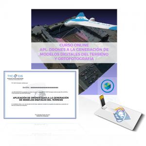 CURSO DE APLICACIÓN DE DRONES (UAV) A LA GENERACIÓN DE MODELOS DIGITALES DEL TERRENO, TOPOGRAFÍA Y ORTOFOTOGRAFÍA usb diploma