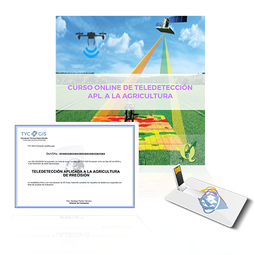 USB y diploma curso teledeteccion