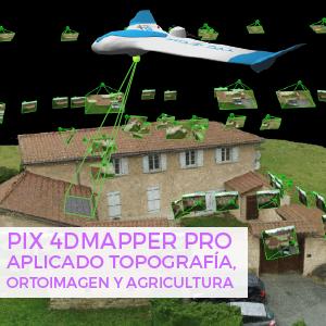 Pix4D mapper ortoimagen agricultura topografia