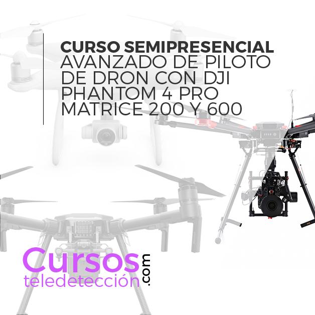 curso semipresencial dron phantom 4 Matrice 600 y 200