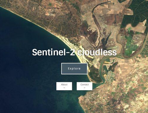 ¿Cómo trabajar con la página web Sentinel-2 cloudless?