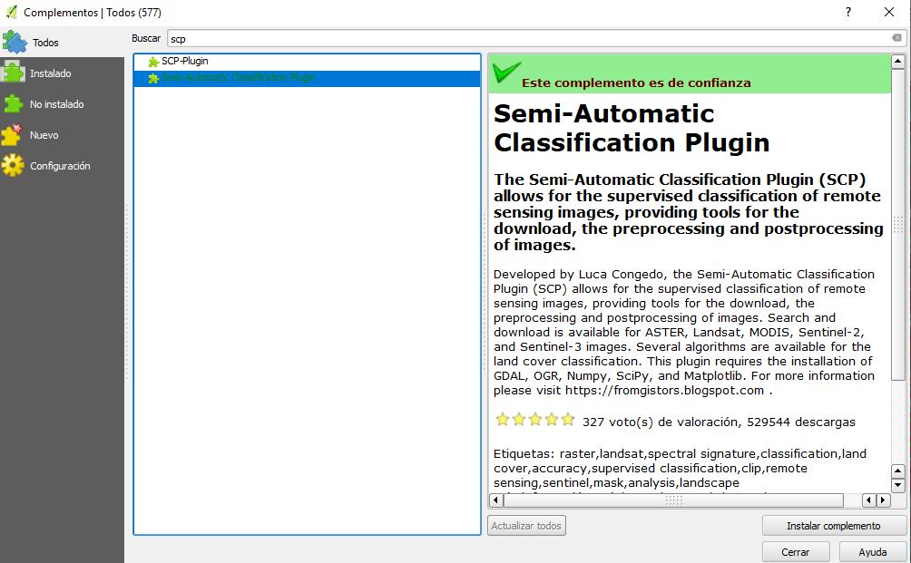 Clasificación Supervisada en QGIS Con SCP