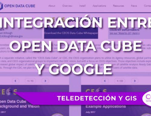 La integración entre Open Data Cube y Google