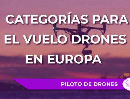Categorías para el vuelo drones en Europa
